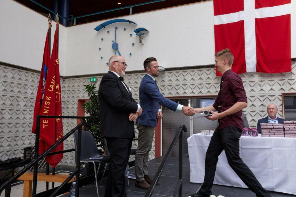 Greeting Mayor Peter Rahbæk Juel